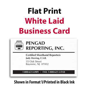 Flat print white laid business cards flat print white laid business card 500box colourmoves