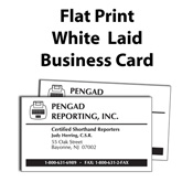 Pengad court reporter supplies legal supplies court reporting flat print white laid business card colourmoves