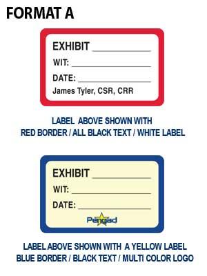 Custom Exhibit Label