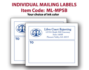 imprinted peel stick individual mailing labels 3 x 4
